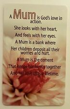 'Mum' (God's Love) Keepsake card New with envelope, A great gift for Mothers day