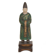 La Chine 19. JH. Holzfigur-A Chinese Wood Carved figure of a emporter Priest chinois