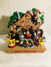 Disney Mickey Mouse Club House Musical Snow Globe/RARE ONE OF A KIND
