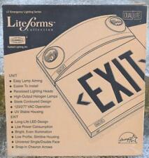 Liteforms Hubbell Lighting Dual Lite Exit Sign Model Lturw White Nib