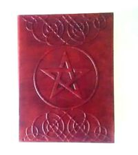Hand Made Leather Bound Wicca Journal Pentagram Vintage Book Shadow Blank Pages