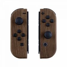 Wood Grain Housing?Shell Case With Full Set Buttons for Nintendo Switch Joy-Con