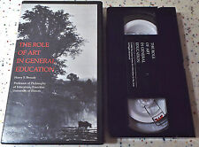 The Role of Art in General Education Harry S. Broudy Lecture VHS 1988