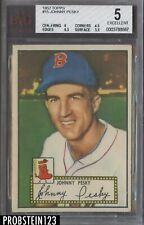 1952 Topps #15 Johnny Pesky Boston Red Sox BVG 5 w/ 6.5