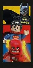 LEGO DC COMICS BOOM SUPERHEROES BATH BEACH TOWEL BATMAN SUPERMAN FLASH COTTON