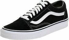 Vans Old Skool Unisex Black/White Leather & Fabric w/ Rubber Sole Shoes US 10.5