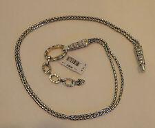 "Brighton Silver Plated Chain Belt Sizes 36 40 List Br9657 36"""