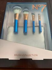 No 7 Brush Collection, 4 pc. travel size brushes w/ brush pouch.