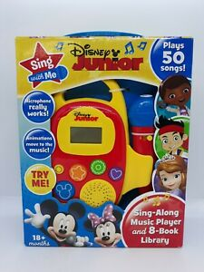 NEW Disney Junior Sing With Me Sing Along Music Player & 8 Book Library