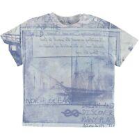 T-Shirt in Cotone Celeste con Stampa Bambino Sarabanda Q512