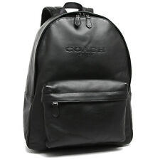 NWT Coach F54786 Charles Black Backpack in Sport Calf Leather MSRP $ 550.00