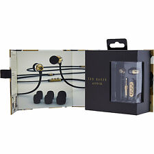 Limited Edition TED BAKER Boxed Black Gold Retro Toned Headphones Designer DOVER