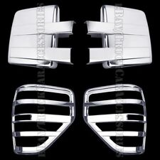 Chrome Covers For FORD F150 2009-2014 Full Towing Mirrors + Bezel Tail Lights