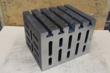 """12"""" x 10"""" x 9"""" T Slotted Cast Iron Cube Box Milling Drilling Tool AP38"""