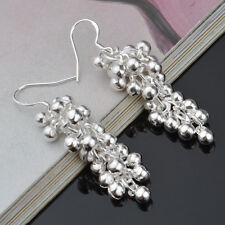 6pairs Grape cluster Earrings silver Plated Elegant Women Lady gift Jewelry