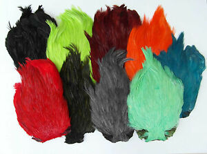 MDI Game Quality Dyed Cock Capes For Fly Tying Choice of Colours
