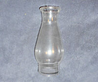 8 1/2 INCH BEADED TOP GLASS CHIMNEY SHADE  3 inch FITTER