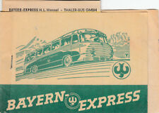 ANCIENNE BILLET Bayern Express Berlin - Munich de 1955 (agf2040)