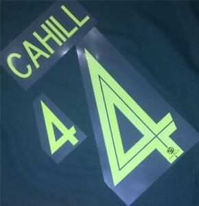 #4 CAHILL NAME NUMBER SET FOR 2018 WORLD CUP AUSTRALIA SOCCEROOS AWAY JERSEY
