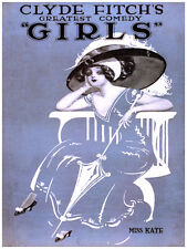 """18x24""""Decoration Poster.Interior room design art.Clyde Fitch Girls comedy.6634"""