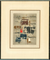 Contemporary Etching - Embossed Abstract