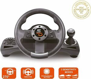 Superdrive GS700 Drive Pro Steering Wheel with Gearshift & Pedals, PS4, Xbox, PC