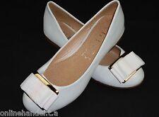 Ballerinas Mädchen Ballerina Slippers Pumps Weiß 32.