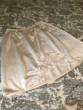 """Ladies Very Vintage ShadowLine Half Slip, Size Small, 15"""" Long, Ivory, LACE!!"""
