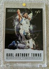 Karl Anthony Towns #1/1 - 2017 Panini Father's Day PANINI COLLECTION HYPER PLAID