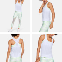 UNDER ARMOUR 2020 UA Armour Sport Eyelet Flowy Women's Tank Top, White, Size L