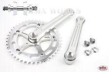 ProMX BMX 3 Piece Aluminium Cranks Set Silver  & YST Sealed BB