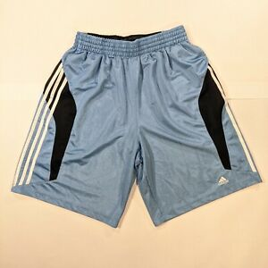 New Adidas Basketball Dazzle Shorts Mens Large shiny silky Rare light blue