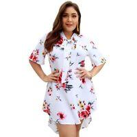 Women's summer floral maxi sundress ladies short cocktail dress beach summer