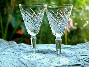 Waterford Crystal Templemore White Wine Glasses Pair Vintage made in Ireland