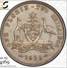 1933 PCGS graded AU50 Australian Florin - Rare semi-keydate coin