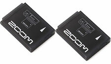 (2) New Zoom BT-02 Rechargeable Battery Pack for Zoom Q4 Handy Video Recorder!!