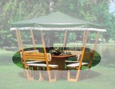 PROMADINO Wetterschutzumhang für Pavillon ROSENHEIM grün 370//33