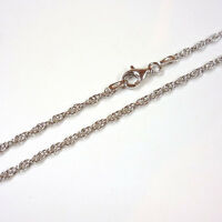Halskette, Silber 925 rhodiniert, elegante Kordelkette, 40-90 cm / 2,1 mm