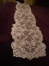 New Ivory lace Dutch Garden design Table Runner 72 x 14