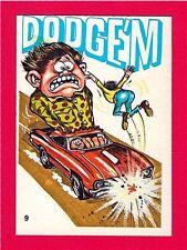 Vintage Donruss Odder Odd Rod #9 Dodgem Card Sticker Old Store Stock