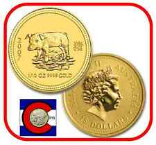 2007 Lunar Pig 1/10 oz $15 Gold Coin, Series I, Perth Mint in Australia