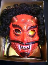 VTG 82 Ben Cooper Devil Costume/Rooted Hair Mask NOS