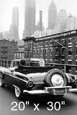 "Marilyn Monroe~Ford T Bird~Entertainment Room~NY Skyline Poster 20"" x 30"""