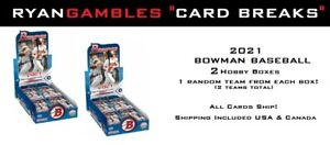 2021 Bowman   2 Hobby Box   2 Random Teams #5