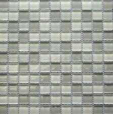 1x1 Wild Coast Glass Mosaic Tile Shiny Finish 8mm Backsplash Kitchen Shower Spa