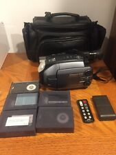 JVC Camcorder GR-AXM300 VHS-C With Tapes Remote Battery Case No Cord - For Parts