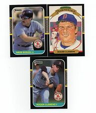 1987 Donruss Boston Red Sox Team Set with Wade Boggs and Roger Clemens