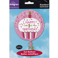 Party Supplies Decorations One Girls Birthday 1st 45cm Cupcake Foil Balloon