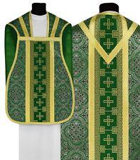 Green Roman Chasuble with stole R017-Z14 Casulla Romana Verde Casula Grün Kasel