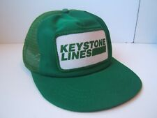 0ae10a74f7e Keystone Lines Patch Hat Vintage Green Damaged Snapback Trucker Cap
